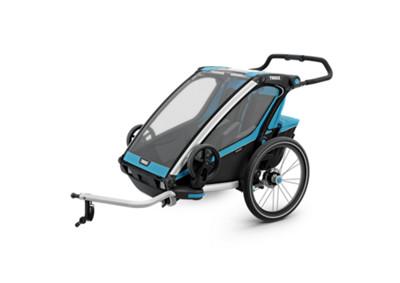chariot sport 2 fahrradanh nger in blau thule online. Black Bedroom Furniture Sets. Home Design Ideas