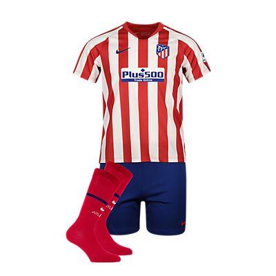 Image of Atletico Madrid Home Replica Kinder Fussballset