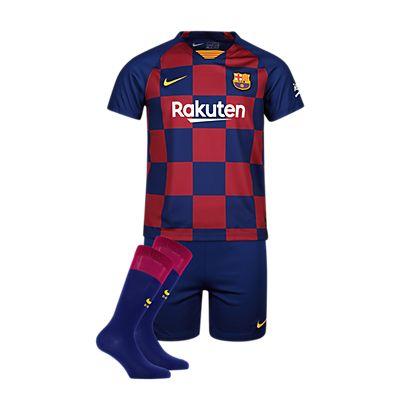 Image of FC Barcelona Home Replica Kinder Fussballset