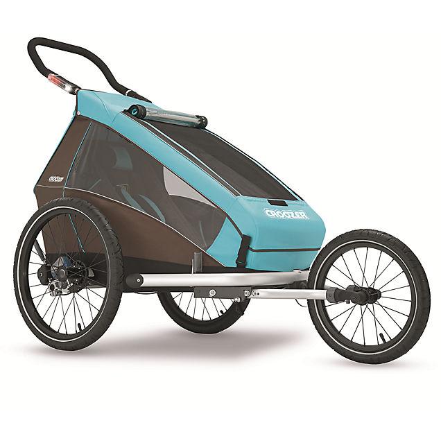 kid plus for 1 fahrradanh nger in blau croozer online. Black Bedroom Furniture Sets. Home Design Ideas