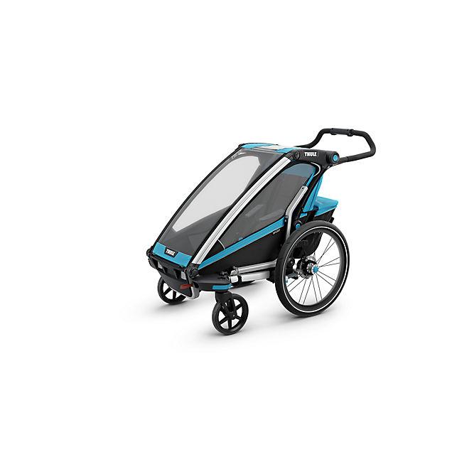 chariot sport 1 fahrradanh nger in blau thule online. Black Bedroom Furniture Sets. Home Design Ideas