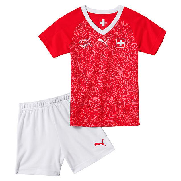 Puma Svizzera Home set calcio bambini