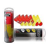 6-Pack speed badminton shuttle