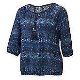 Aqua Flower Tunic Damen Bluse