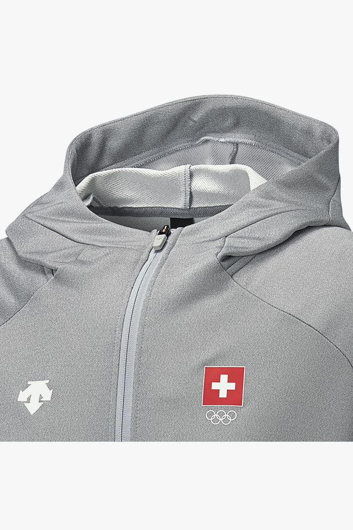 Descente Herren Zip Hoodie in grau sichern | Ochsner Sport
