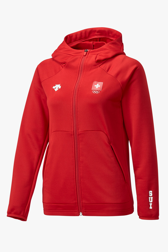 Descente Damen Zip Hoodie in rot sichern | Ochsner Sport