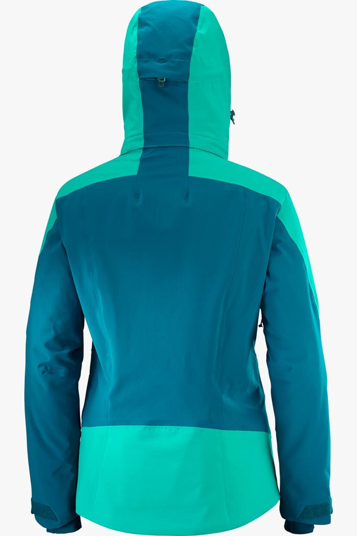 0ac3690f30b2d6 Icepocket Damen Skijacke in petrolblau - Salomon