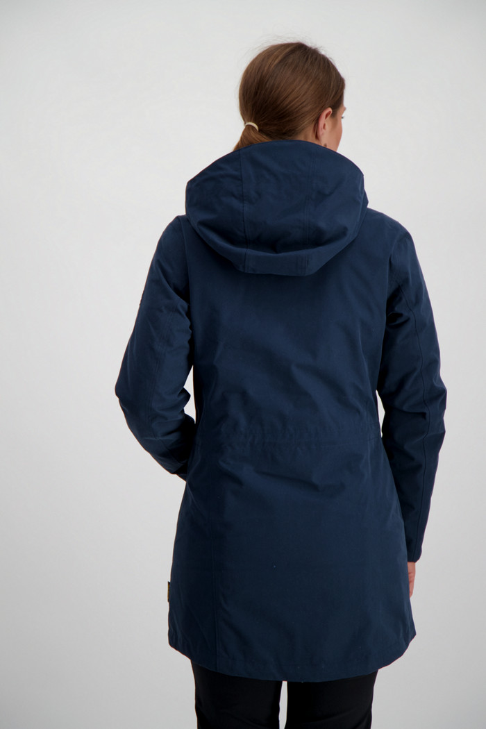 Jack Wolfskin Madison Avenue Damen Mantel in blau sichern