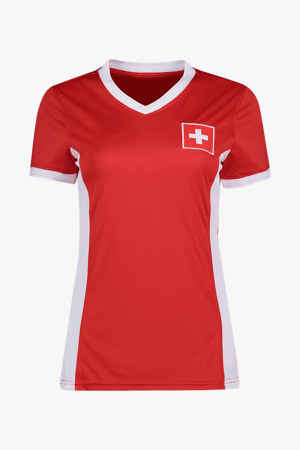 Powerzone Schweiz Fan Damen T-Shirt