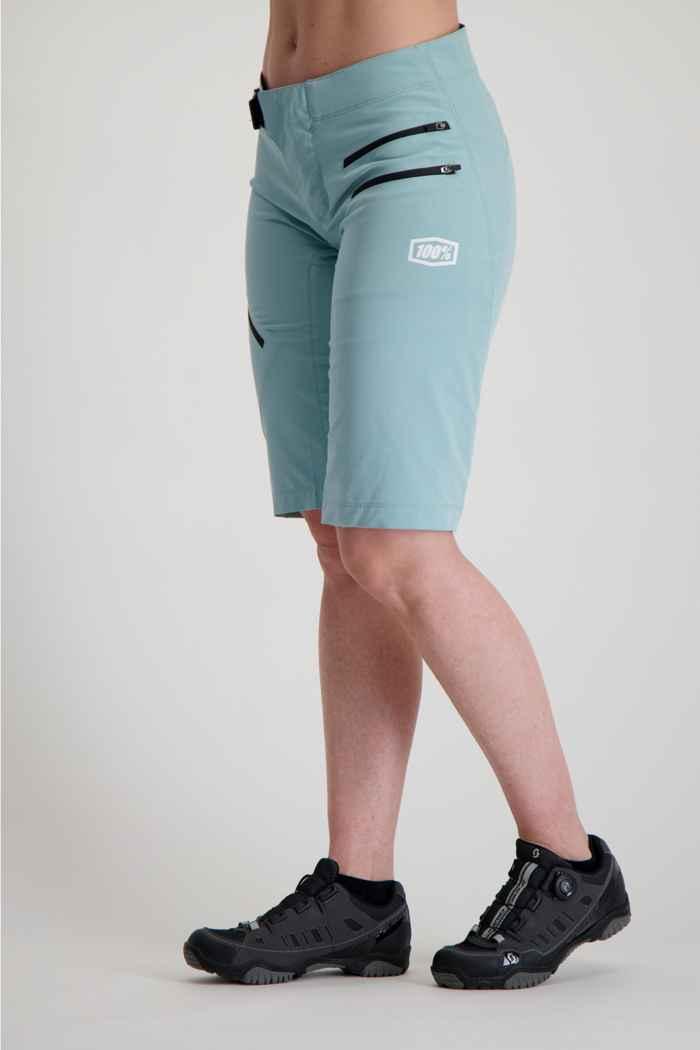 100PERCENT Airmatic Damen Bikeshort Farbe Aqua 1