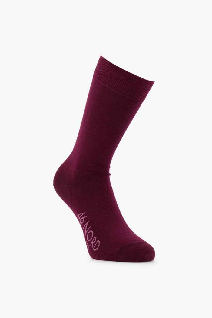 46 Nord Merino 35-46 chaussettes Couleur Bordeaux 2