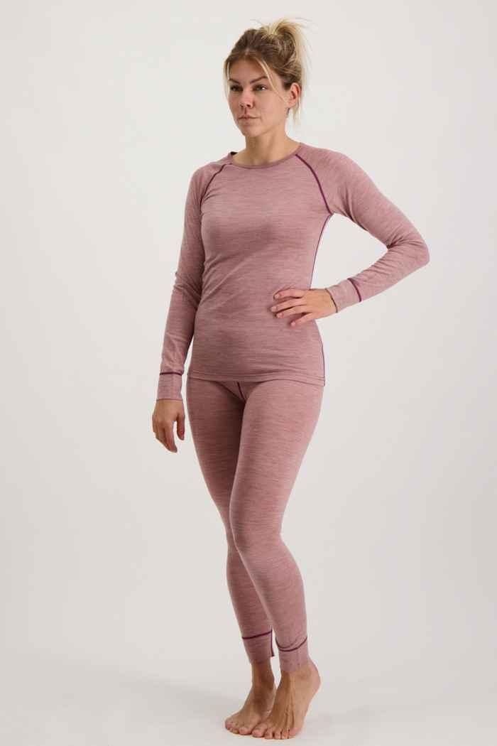 46 Nord Merino Damen Thermo Unterwäsche Set Farbe Rosa 1