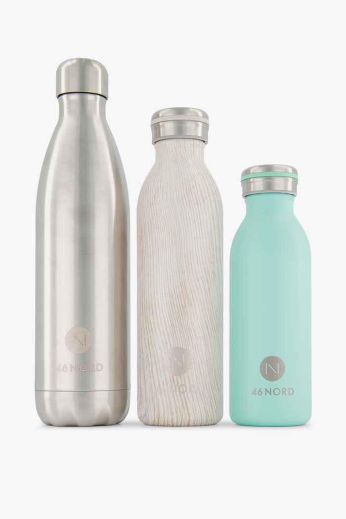 46 Nord Trinkflaschen Set + Strohhalme Farbe Grün-braun 2