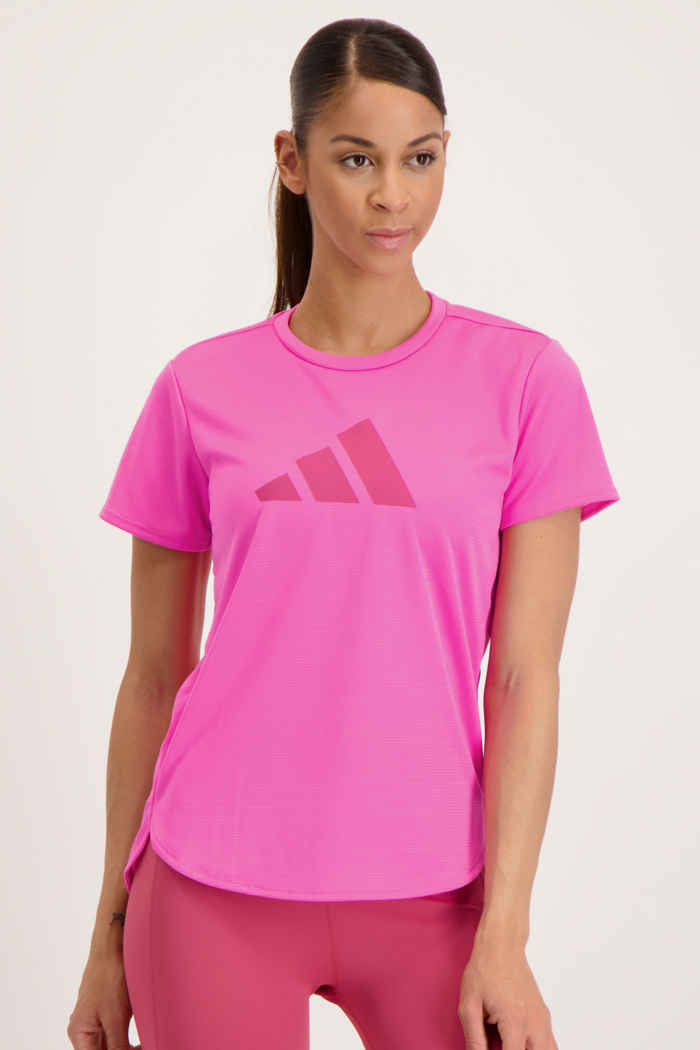 adidas Performance 3 Bar Logo Damen T-Shirt Farbe Pink 1