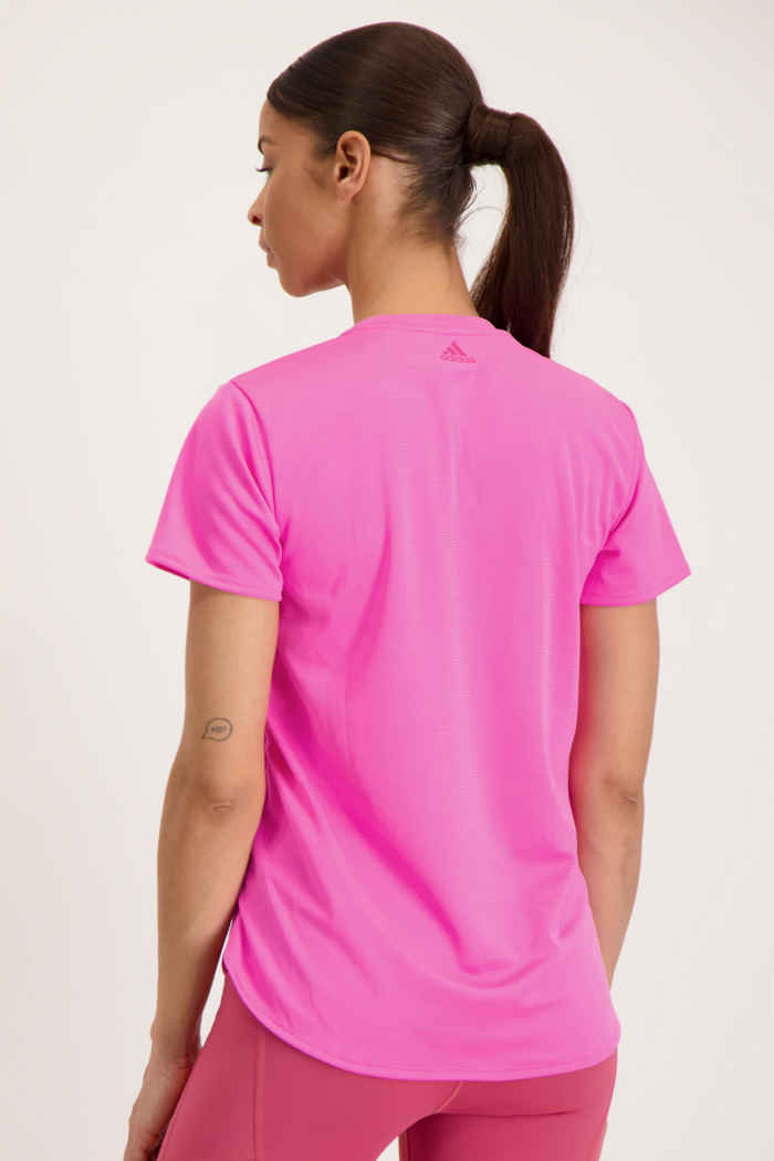 adidas Performance 3 Bar Logo Damen T-Shirt Farbe Pink 2