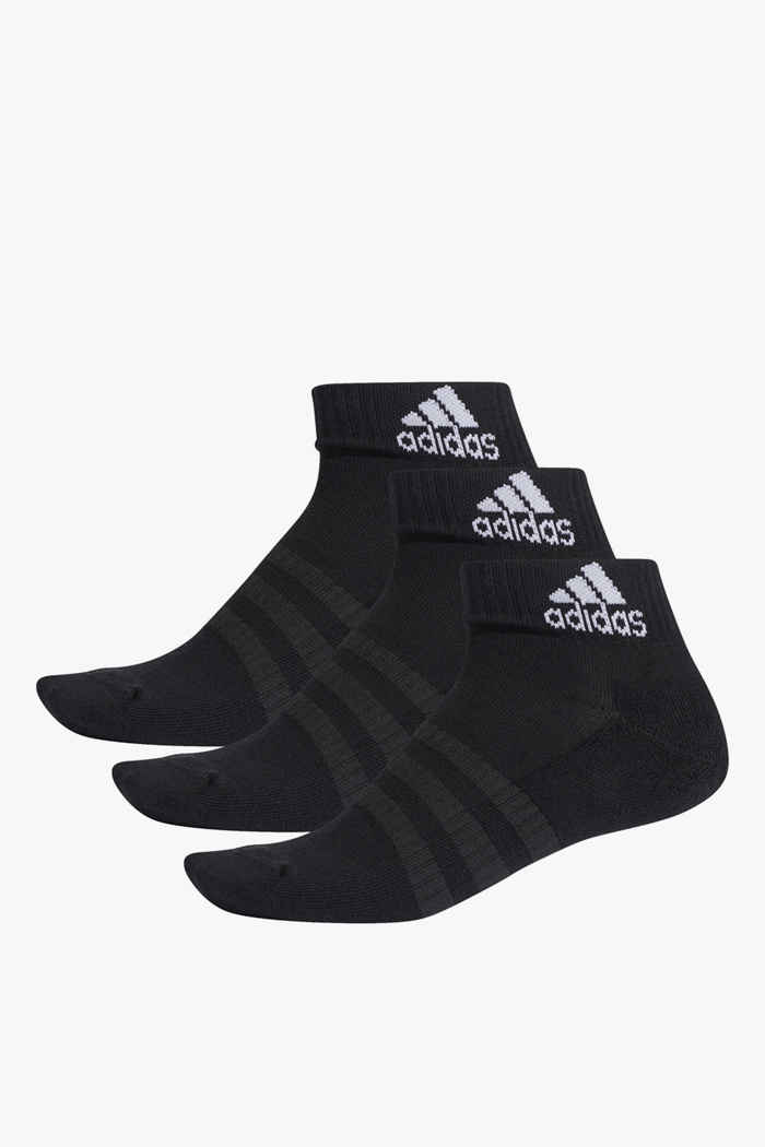 adidas Performance 3-Pack Cushioned Ankle 37-39 Socken Farbe Schwarz 1