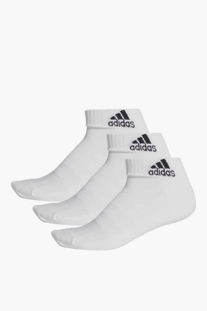 adidas Performance 3-Pack Cushioned Ankle 40-42 Socken Farbe Weiß 1