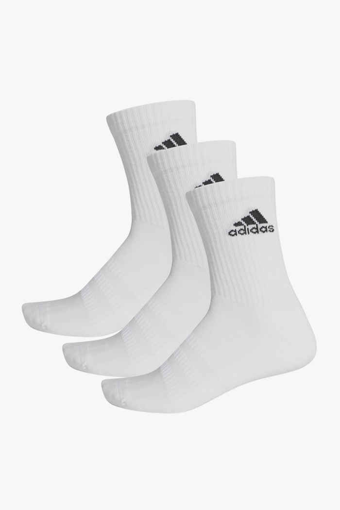adidas Performance 3-Pack Cushioned Crew 40-42 chaussettes Couleur Blanc 1