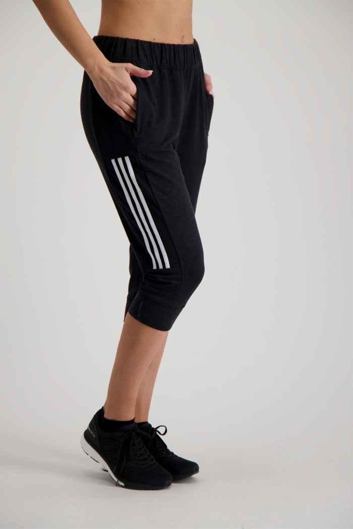 adidas Performance 3 Streifen pantaloni della tuta 3/4 donna 1