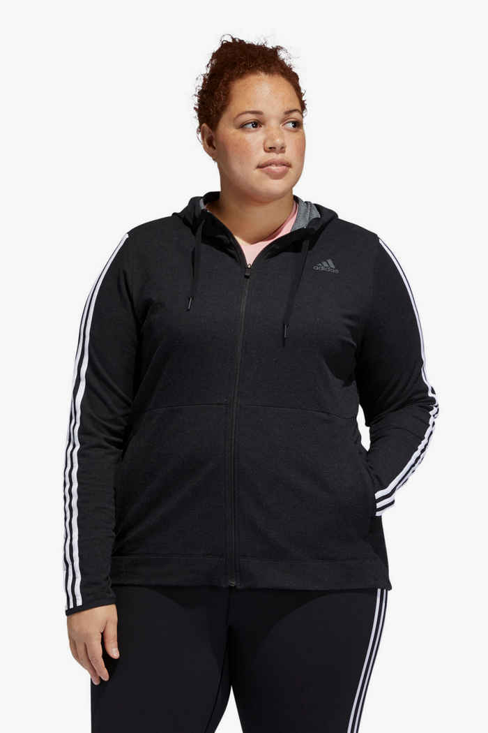 adidas Performance 3 Streifen Plus Size Damen Trainingsjacke 1
