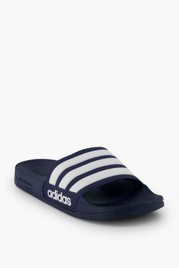adidas Performance Adilette Cloudfoam Herren Slipper Farbe Weiß-blau 1