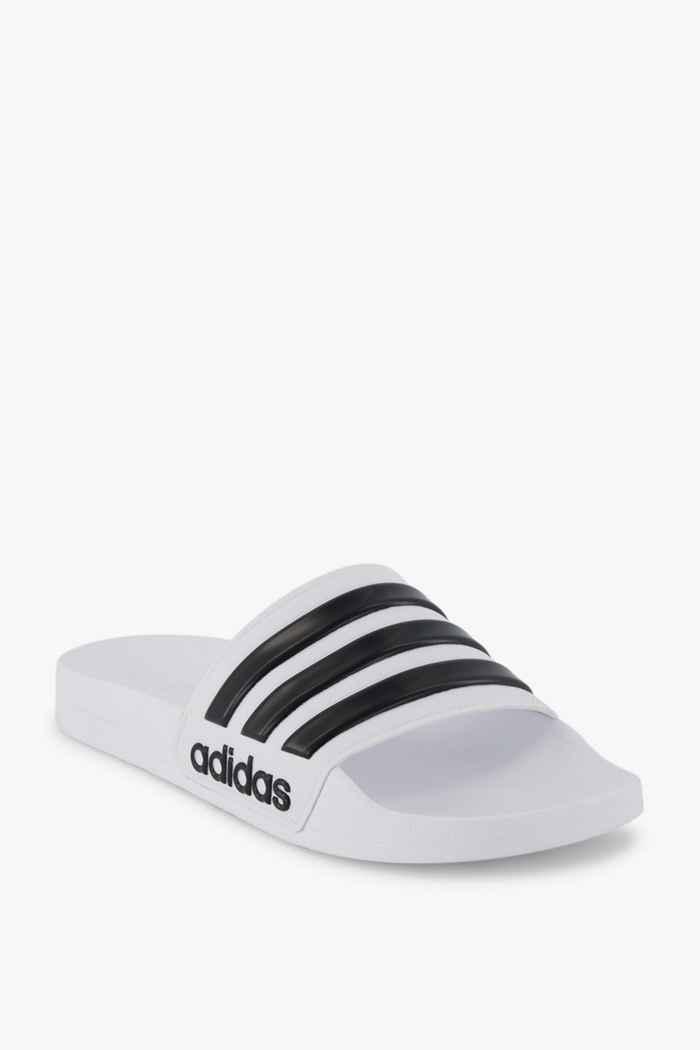 adidas Performance Adilette Cloudfoam slipper hommes Couleur Noir-blanc 1