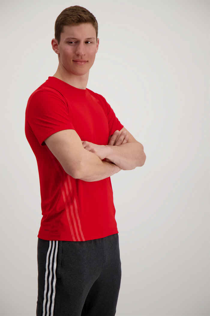 adidas Performance Aeroready 3-Streifen Herren T-Shirt Farbe Rot 1