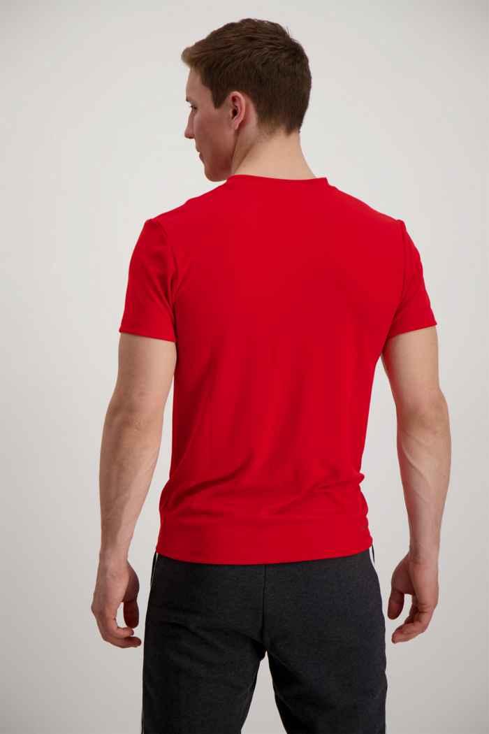 adidas Performance Aeroready 3-Streifen Herren T-Shirt Farbe Rot 2