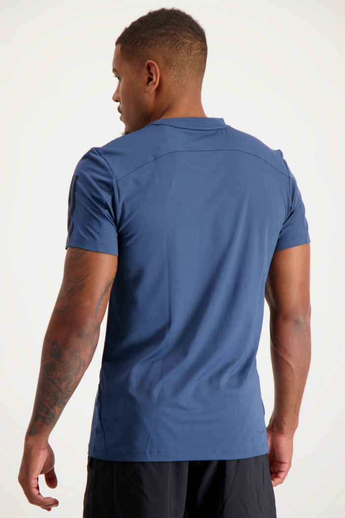 adidas Performance Aeroready 3-Streifen Slim Herren T-Shirt Farbe Blau 2