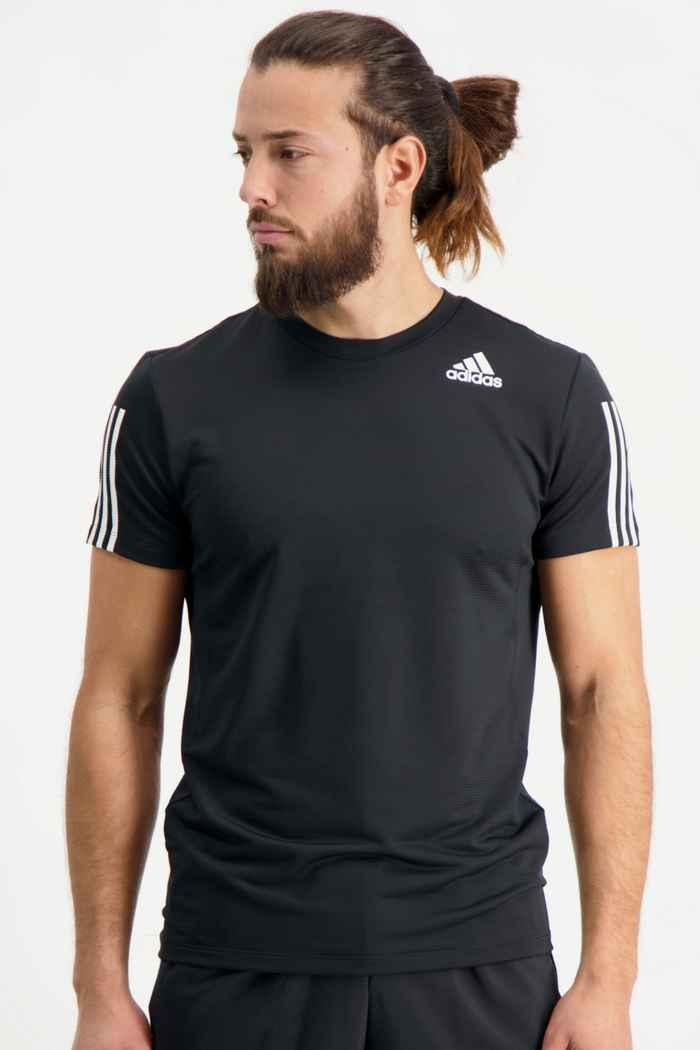 adidas Performance Aeroready 3-Streifen Slim Herren T-Shirt Farbe Schwarz 1