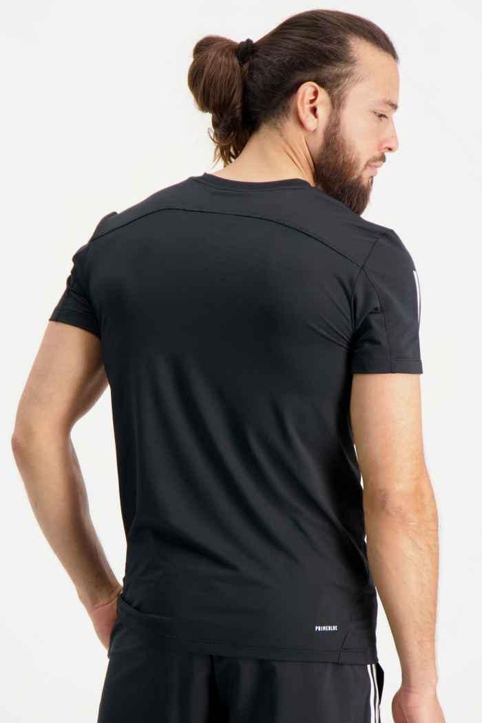 adidas Performance Aeroready 3-Streifen Slim Herren T-Shirt Farbe Schwarz 2
