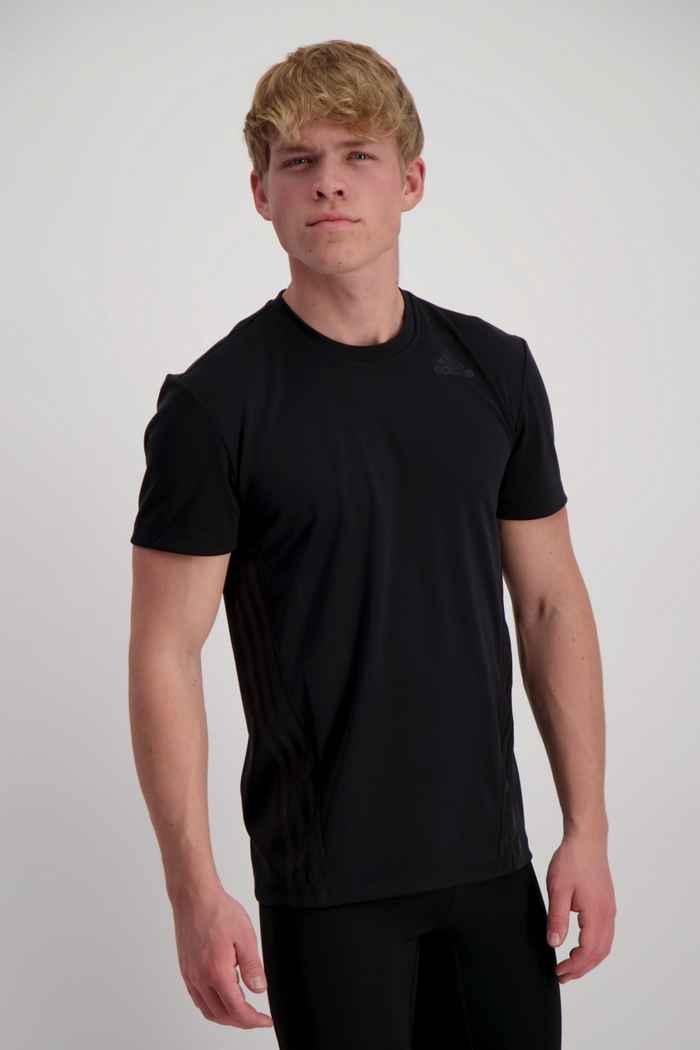 adidas Performance Aeroready 3-Streifen t-shirt uomo Colore Nero 1