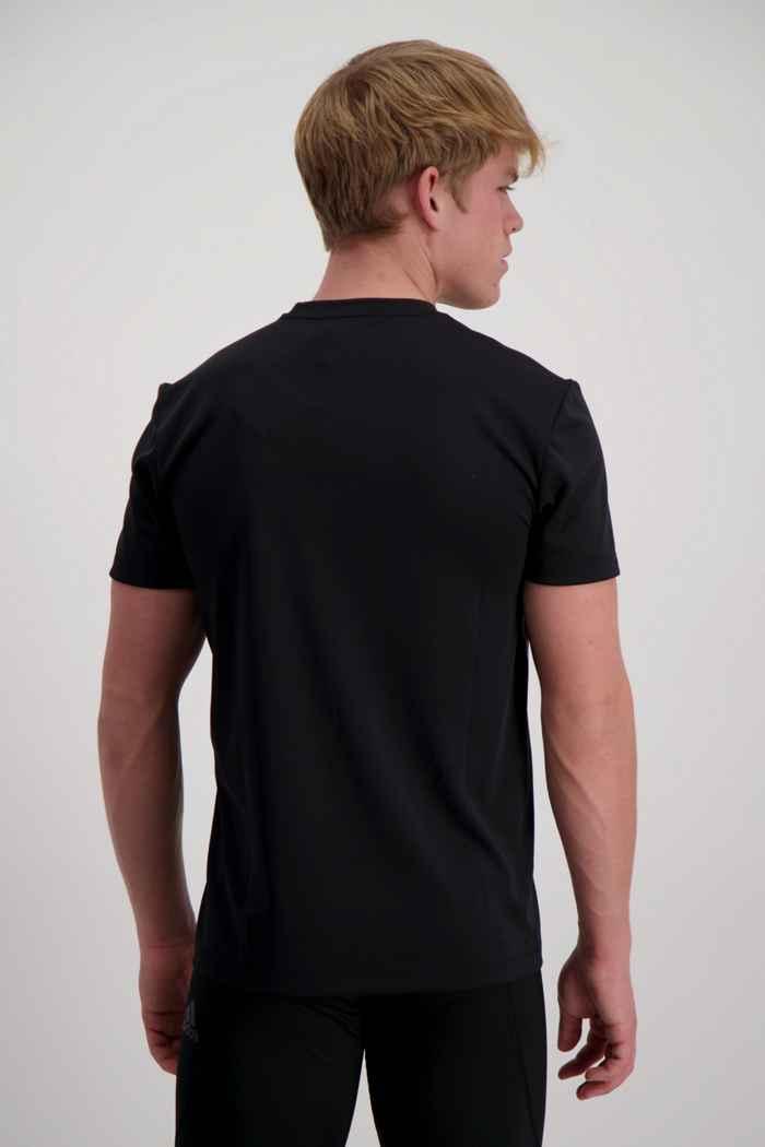 adidas Performance Aeroready 3-Streifen t-shirt uomo Colore Nero 2