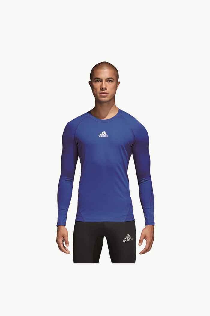 adidas Performance Alphaskin Sport Herren Longsleeve Farbe Blau 2