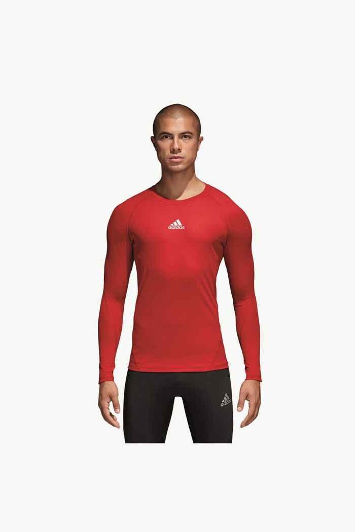 adidas Performance Alphaskin Sport Herren Longsleeve Farbe Rot 1