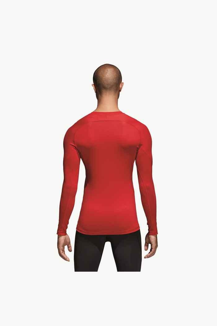 adidas Performance Alphaskin Sport longsleeve hommes Couleur Rouge 2