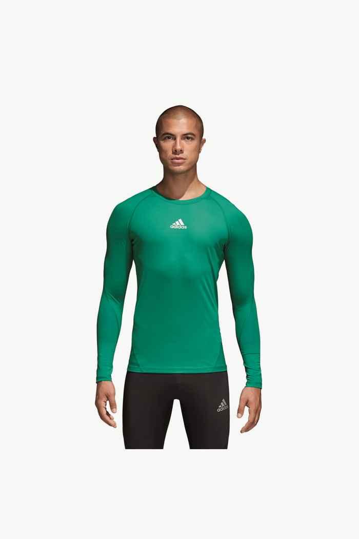 adidas Performance Alphaskin Sport longsleeve uomo Colore Verde 1