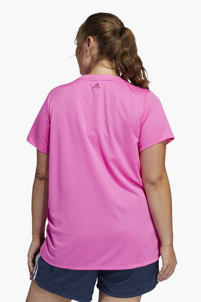 adidas Performance Badge of Sport Plus Size t-shirt donna Colore Rosa intenso 2