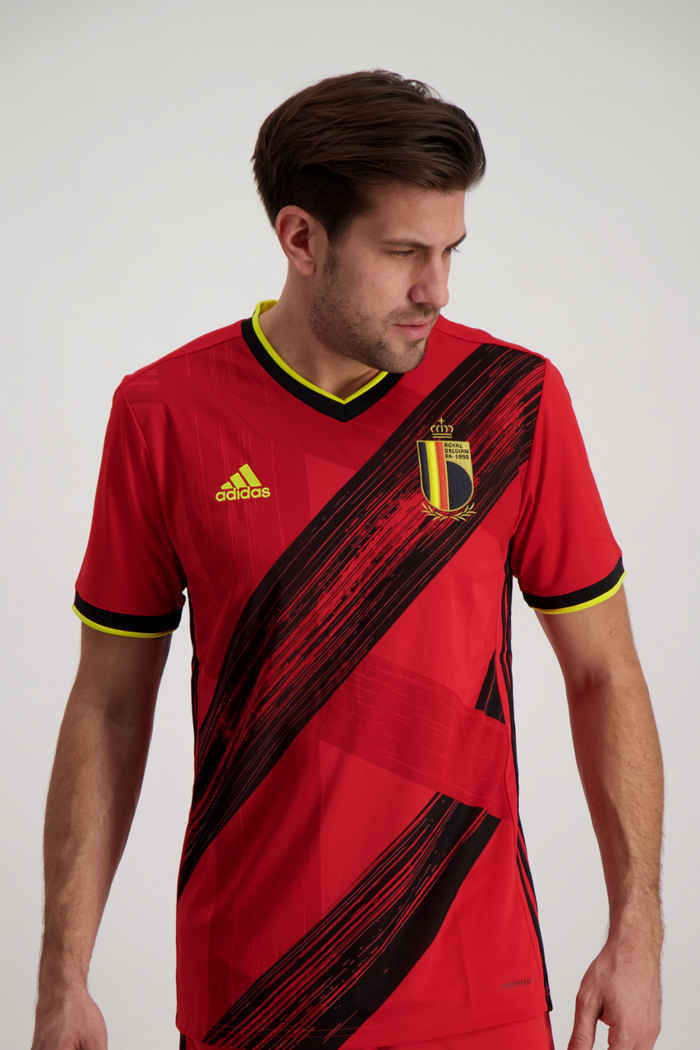 adidas Performance Belgien Home Replica Herren Fussballtrikot 1