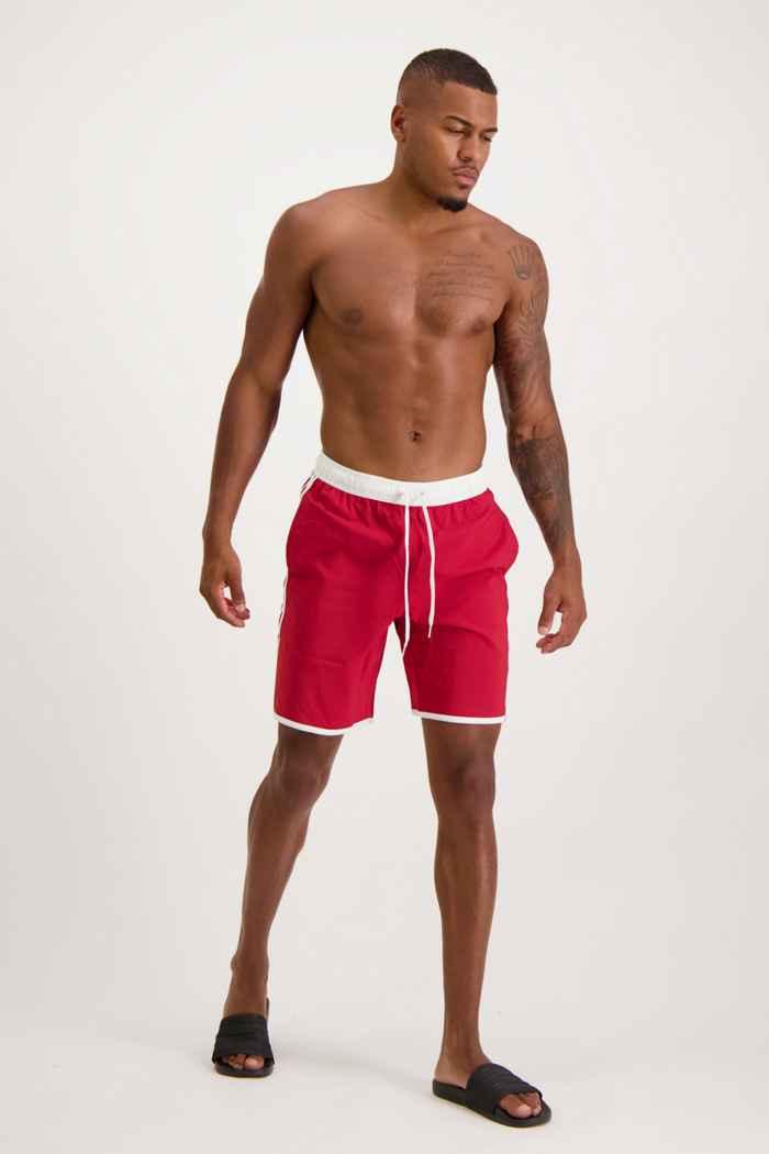 adidas Performance Classic-Length 3S Herren Badeshort Farbe Rot 1