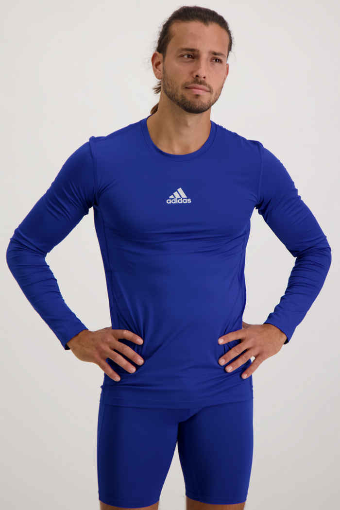 adidas Performance Compression longsleeve hommes Couleur Bleu 1