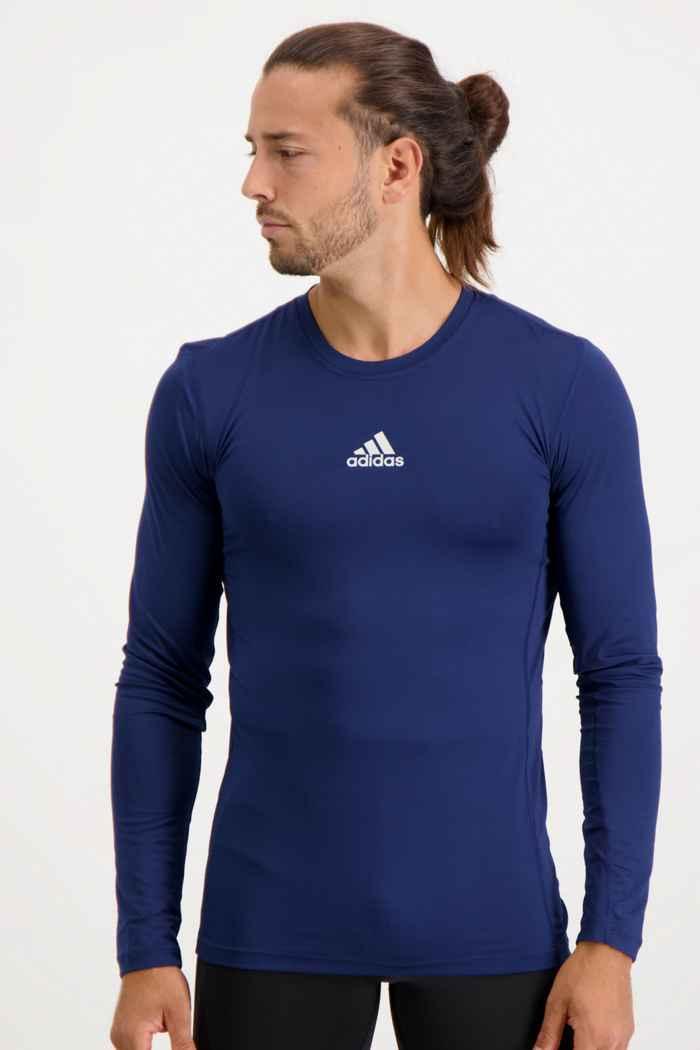 adidas Performance Compression longsleeve hommes Couleur Bleu navy 1