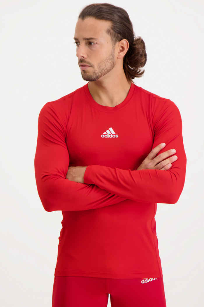 adidas Performance Compression longsleeve hommes Couleur Rouge 1