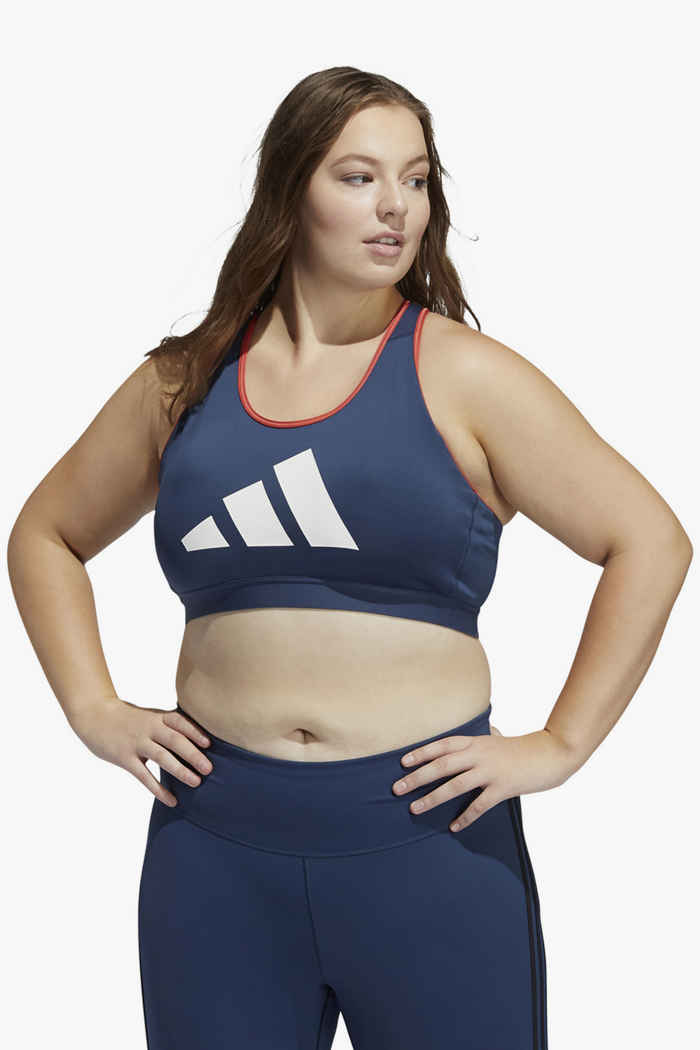 adidas Performance Don't Rest Plus Size Damen Sport BH Farbe Navyblau 1