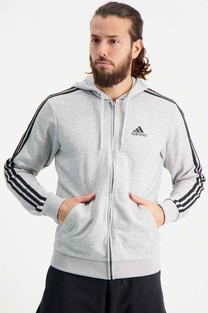 adidas Performance Essentials 3S veste de sport hommes Couleur Gris 1