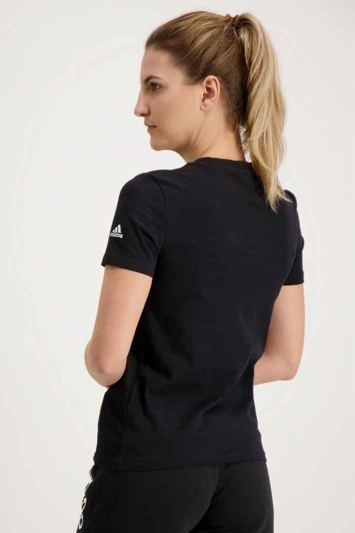 adidas Performance Essentials Slim Logo Damen T-Shirt Farbe Schwarz 2