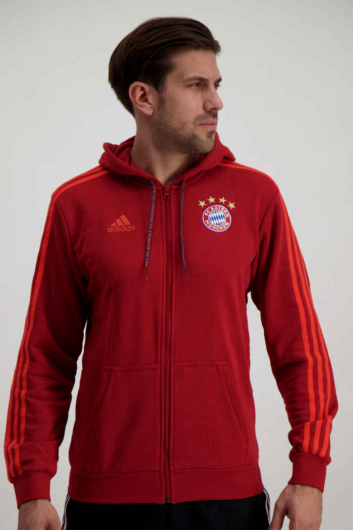 Compra FC Bayern München hoodie uomo adidas Performance in rosso ...