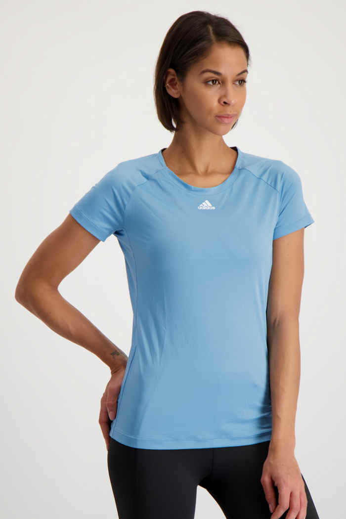 adidas Performance Performance t-shirt femmes Couleur Bleu clair 1