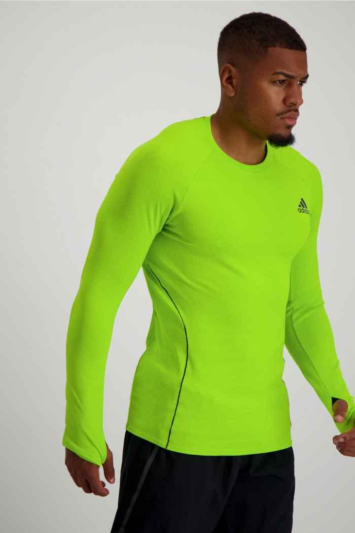 adidas Performance Runner Herren Longsleeve Farbe Grün 1