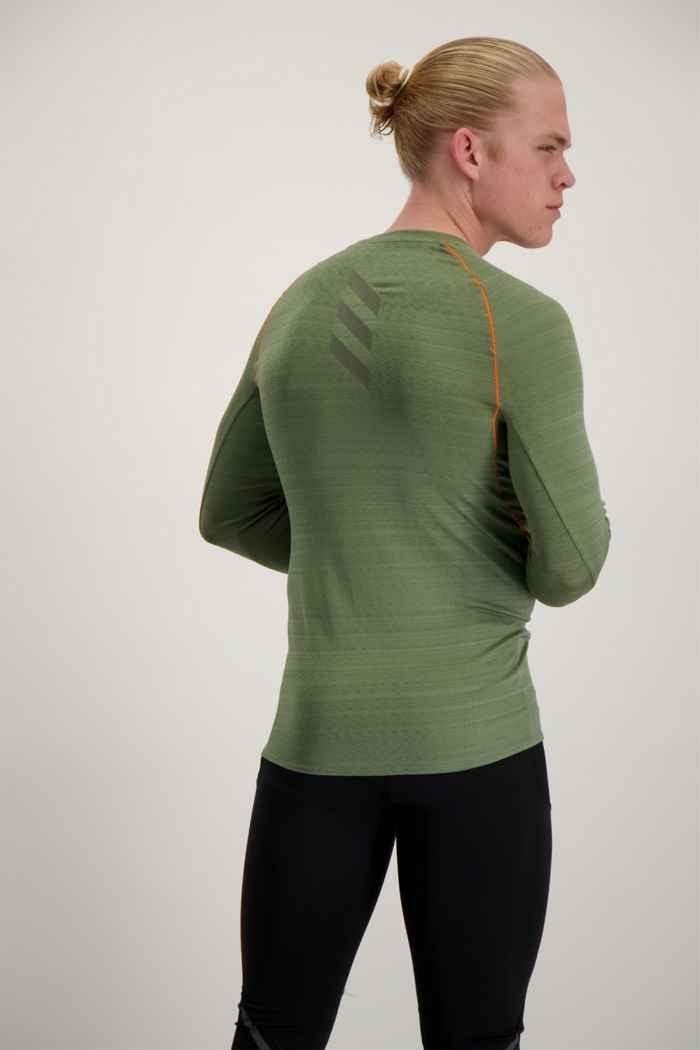 adidas Performance Runner Herren Longsleeve Farbe Olive 2